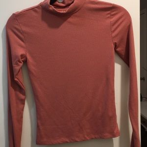Peach colored long sleeve size small